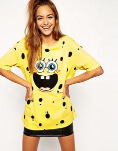 ASOS Tunic T-Shirt with Spongebob Print