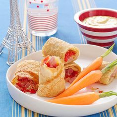Ham and Cheese Crepes:  When you whip up a batch of crepes ahead of time (or pick up premade ones at the store), morning prep for this savory breakfast is quick and reaps satisfying results. Simply top a crepe with grated cheese and diced ham and tomatoes, roll up, and pop it in the oven until the cheese melts (about 5 minutes).