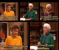 Golden Girls  Oh Blanche...  so afraid the man market will decrease for her... ;)