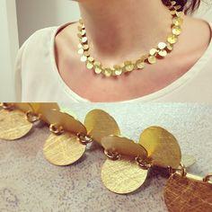 Collar de #oro #majoral en #artemovil #joyascontemporaneas #joyasdeautor #style