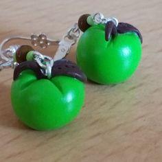 Boucles d'oreilles pommes vertes