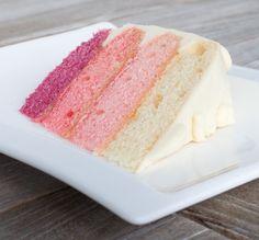 Einen genussgeeks Kuchen in toller Optik und vor allem lecker! Veganer Ombre Cake!