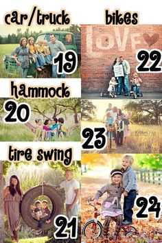 Great site with tons of ideas for family portraits. 101 Family Picture Tips Ideas