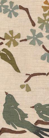Ocean Birds on Upholstery Linen, Galbraith & Paul