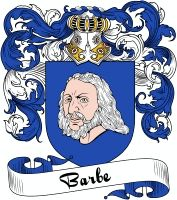 Barbe Coat of Arms  Barbe Family Crest   VIEW OUR FRENCH COAT OF ARMS / FRENCH FAMILY CREST PRODUCTS HERE