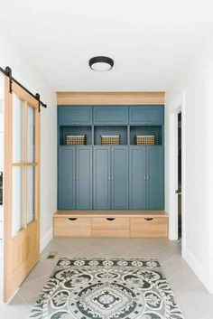 50 DIY Mudroom Ideas » Lady Decluttered Mudroom Cabinets, Mudroom Laundry Room, New Home Designs, Home Renovation, Home Projects, Family Room, New Homes, Loft, House Design