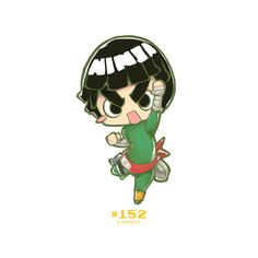 Chibi rock lee by jrpencil