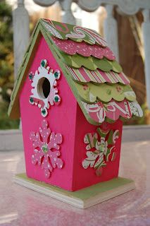 Christmas birdhouse as seen in scrapbooks and cards today