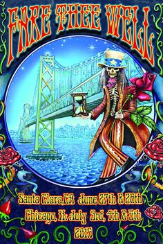 Non-profit organization HeadCount will offer special edition postcards at the Fare Thee Well shows for those that are willing to participate in one of 17 call-to-action methods of civic participation. Grateful Dead Tattoo, Grateful Dead Image, Grateful Dead Poster, Dead Images, Free Postcards, Wall Of Sound, Dead And Company, Psychedelic Rock, Tour Posters