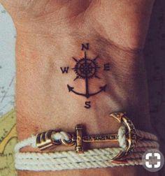 New Ideas travel tattoo compass tatoo Mini Tattoos, Trendy Tattoos, Foot Tattoos, New Tattoos, Sleeve Tattoos, Tattoos For Guys, Tatoos, Small Tattoos For Men, Small Anchor Tattoos