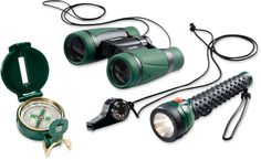 Equip your young explorer for adventure! Perfect for hiking and camping, this kit combines a matching flashlight, whistle, compass and binoculars. #REIGifts