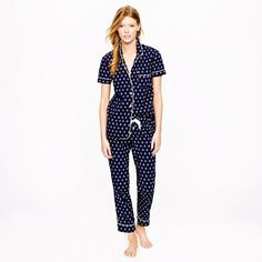 may need to buy these with my new monogram in orange for the wedding weekend! ... Vintage short-sleeve pajama set in anchor print