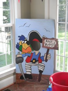hand painted cardboard cut out for the kids to pose :)