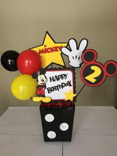 Ratón de Micky feliz cumpleaños centros de por MomentzandMemories