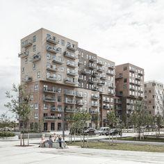 Read Danish architecture firm ADEPT has designed a new residential complex in Copenhagen Scandinavian Architecture, Contemporary Architecture, Amazing Architecture, Residential Complex, Residential Architecture, Architecture Design, Big Architects, Front Elevation Designs, Brick Facade