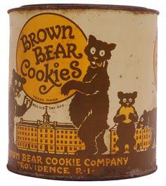 """Brown Bear Cookies Company"" Tin.... Providence, Rhode Island."