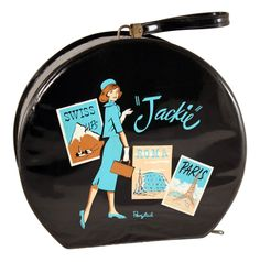 """Jackie"" Vinyl Case from the Ponytail line by Standard Plastic Products, 1961-63"