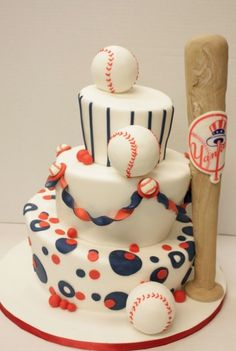 baseball birthday cake @Lauren Kotara enough said