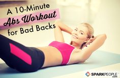 The Best Abs Exercises (that Won't Hurt Your Back)   SparkPeople