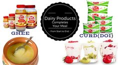 Dairy Products complete your meal http://goo.gl/w3itjW