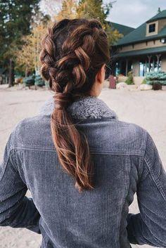 50 Trendy Dutch Braid Hairstyle Ideas To Keep You Cool - New Women& Hairstyles . - 50 Trendy Dutch Braid Hairstyle Ideas To Keep You Cool - Modern Hairstyles, Diy Hairstyles, Pretty Hairstyles, Hairstyle Ideas, Amazing Hairstyles, Classy Hairstyles, Teenage Hairstyles, Everyday Hairstyles, Running Hairstyles