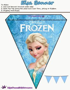 Disney's Frozen hit theaters with a big BANG. It was the most popular Disney movie to date. I have to admit that I love it. In honor of one of my favorite movies I created Frozen printables t… Frozen Birthday Banner, Frozen Banner, Frozen Themed Birthday Party, 2nd Birthday, Birthday Parties, Frozen Free, Frozen Party Decorations, Frozen Centerpieces, Party Printables