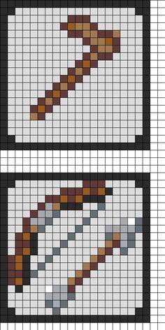 Minecraft Coaster Pt 2 Perler Bead Pattern | Bead Sprites | Misc Fuse Bead Patterns