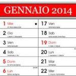 Calendario 2014 gratis online!