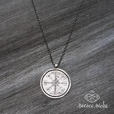 Handmade Veldismagn Pendant Necklace Nordic Stave Necklace