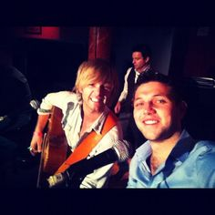 Keith Harkin, Ryan Kelly and Colm Keegan of Celtic Thunder during special concert for victims of hurricane Sandy