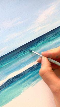 Summer Drawings, Cool Art Drawings, Acrylic Painting Tutorials, Acrylic Art, Hand Art Kids, Clay Wall Art, Art Painting Gallery, Paintings I Love, Canvas Art Prints