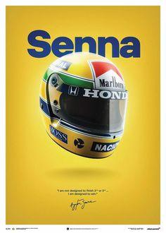 McLaren and Unique & Limited launch art print and posters celebrating Ayrton Senna - Ayrton Senna Racing F1, Racing Helmets, Drag Racing, Grand Prix, Ayrton Senna Helmet, Aryton Senna, Alain Prost, Mc Laren, Ferrari F1
