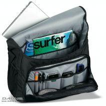 Dakine MESSENGER BAG LG Notebook Tasche auf einen Blick:        Volumen: 23 Liter      Maße: 50 x 34 x 15cm      passend für 17 Zoll Laptop      Gewicht: 1.2 kg      Material: 600D Polyester; 300D Poly Twill; 420D Nylon Dobby $65