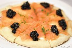 If you get the pizza at Spago's in Beverly Hills, you darned well better start with the Smoked Salmon & Caviar pie. OMG.