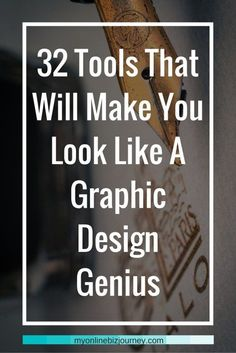 32 Online Graphic Design Tools To Help You Create Viral Images 32 Tools That Will Make You Look Like A Graphic Design Genius (even if you're artistically challenged) If you're anything like me, you probably do not have a single creative bone in you when i Online Graphic Design, Graphic Design Tools, Graphic Design Tutorials, Design Posters, Graphic Designers, Freelance Graphic Design, In Design Tutorial, Graphic Design Programs, Web Design Tips