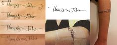 """""""Thomas & Fábio"""", lettering process for tattoo based on calligraphy. By Mariane Rodrigues"""