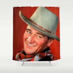 John Wayne Shower Curtain Curtains Wwii World War Ii