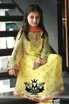 Newest & Latest Kids Wear Fashion Trend By Maria.B Launched Maria B. is one of Pakistan. The rally is equipped with beautiful shirts and long dresses, Stylish Dresses, Cute Dresses, Girls Dresses, Eid Dresses, Doll Dresses, Baby Dresses, Formal Dresses, David Hockney, Kids Party Wear