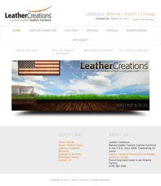 Custom Leather Furniture in Atlanta, Austin & Chicago Leather Sectional, Leather Recliner, Leather Furniture, Modern Furniture, Deep Sofa, Creation Homes, Portfolio Web Design, Room Planner, Custom Leather