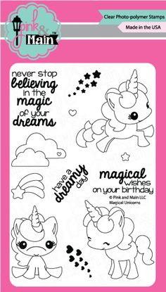 Pink and Main is your one-stop shop for clear photopolymer stamps made in the USA. Our stamps are designed with you in mind and we hope you enjoy creating with them. Here at Pink and Main we love living the creative life!