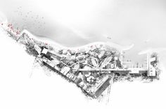 after three years of planning, construction is underway in china at the site of jean nouvel& artists& garden in qingdao. Jean Nouvel, Qingdao, Woodland Art, Site Analysis, Site Plans, Urban Planning, Garden Art, Construction, China