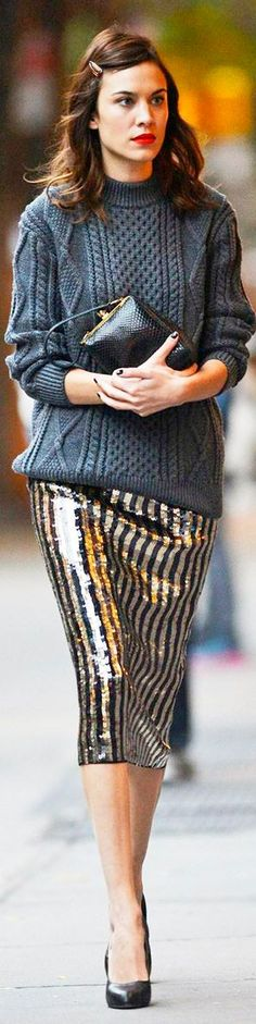 { sequins and sweaters }