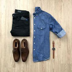 VoTrends® Outfit Ideas for Men ( Trend Fashion, Look Fashion, Fashion Outfits, Modern Fashion, Stylish Mens Outfits, Casual Outfits, Men Casual, Capsule Wardrobe Men, Mens Wardrobe Essentials