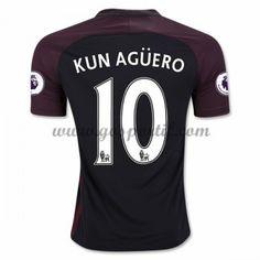 maillot de foot Premier League Manchester City 2016-17 Kun Aguero 10 maillot extérieur