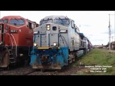 Trem X57 traslado das novas locomotivas Ge AC44i Rumo [Full HD] - YouTube