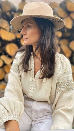 Traditional Outfits, Dna, Panama Hat, Costumes, Blouse, Hats, Clothes, Romania, Folk