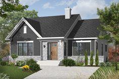 Narrow Lot House Plans, Family House Plans, Cottage House Plans, Bedroom House Plans, Best House Plans, Cottage Homes, Farm House, Vestibule, Grands Salons