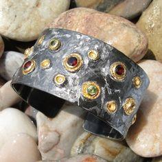 Athena's Treasures - Polemis Starry Night Cuff Bracelet, $824.25 (http://www.athenas-treasures.com/polemis-starry-night-cuff-bracelet/)
