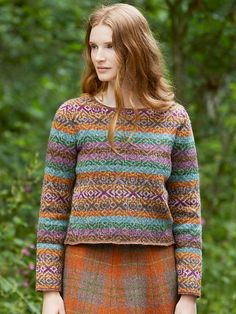 MEADOW is a collection of 7 Fair Isle and stitch handknit designs for women by Marie Wallin using Jamieson's of Shetland Spindrift yarn. Loom Knitting Patterns, Knitting Stitches, Free Knitting, Knitting Socks, Knitting Ideas, Knitting Tutorials, Knitting Projects, Stitch Patterns, Fair Isles