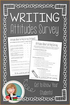 Perfect for upper elementary and middle school! Get to know your students' attitudes about writing. Find out how they really feel about writing assignments, what they enjoy writing, and how they think writing skills will affect their futures. The answers might surprise you!